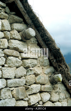 Building Detail, Machu Picchu, Peru - Stock Image