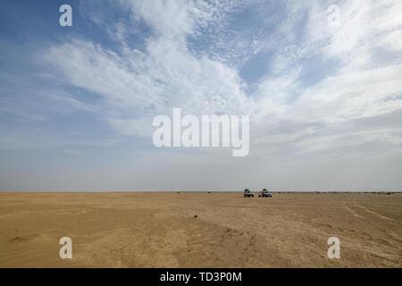 The barren landscape surrounding the Erta Ale Volcano in the Afar Region of Ethiopia - Stock Image