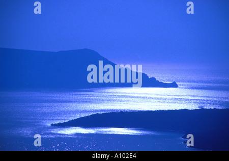 Islands of Santorini Greece - Stock Image