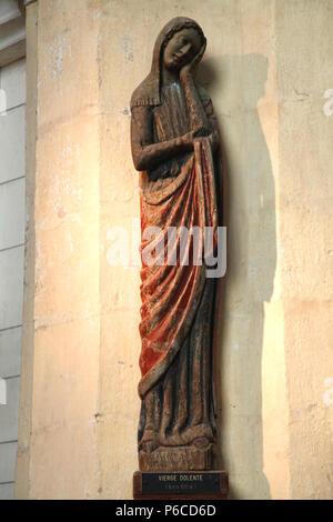 France, Normandy, Eure department (27) Verneuil sur Avre, La Madeleine church - Stock Image