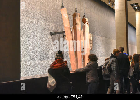 Inside of the National September 11 (9/11) Memorial and Museum - Stock Image