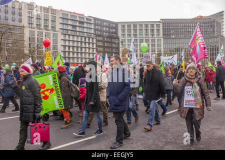 Thousands of people protest against industrial barns, where animals are in sufferable conditions on January 17, - Stock Image