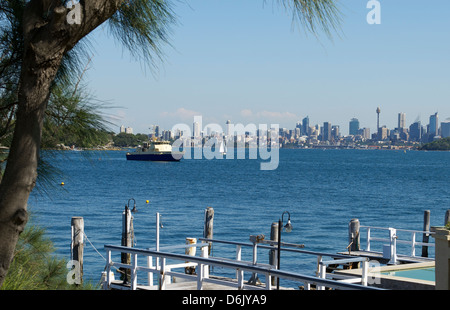 Watson's Bay looking towards the city Sydney Harbour Australia - Stock Image