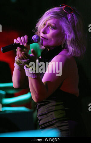 New York, USA. 13 March, 2009. Debbie Harry, performs on stage at the launch of Carrera Vintage Sunglasses at Angel Orensanz Foundation. Credit: Steve Mack/Alamy - Stock Image