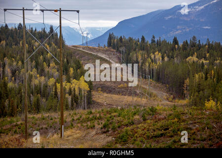 Golden British Columbia Kicking Horse Country Scenic - Stock Image