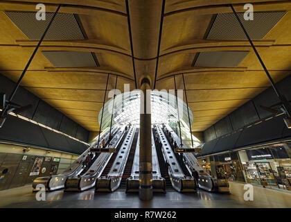 Canary Wharf Station Entrance, London, United Kingdom - Stock Image