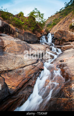 Beauty waterfall near Munnar town in Kerala state of India - Stock Image