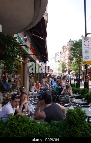 Fiori Corner Cafe at Leicester Square London - Stock Image