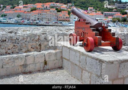 Town of Korcula, Island of Korcula, Dalmatian coast, Croatia - Stock Image