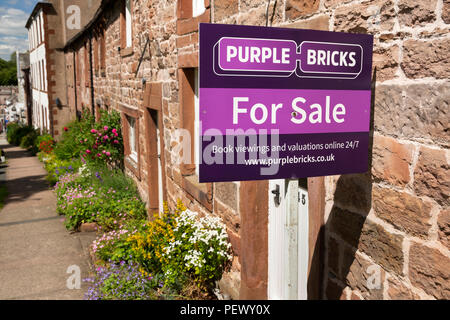 UK, Cumbria, Eden Valley, Appleby, Boroughgate, house for sale with Purple Bricks online agent - Stock Image