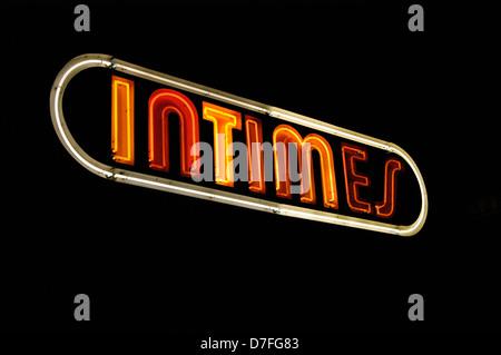 Europe, Germany, Germany, Berlin, stroke, neon light, neon sign, intimate, neon lights - Stock Image