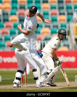 Cricket - Tour Match - Australia A v England XI - Day Four - Bellerive Oval - Stock Image