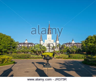 United States, Louisiana, New Orleans, French Quarter. Saint Louis Cathedral on Jackson Square. - Stock Image