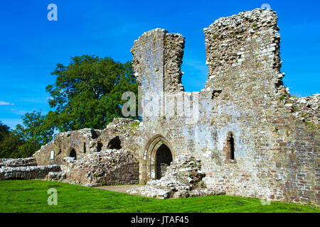 Llawhaden Castle, Pembrokeshire, Wales, United Kingdom, Europe - Stock Image