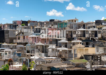 'morne a l'eau' typical Cemetary, Guadeloupe, french West Indies. - Stock Image