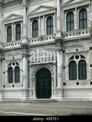 Veneto Venice Scuola Grande di San Rocco - Stock Image