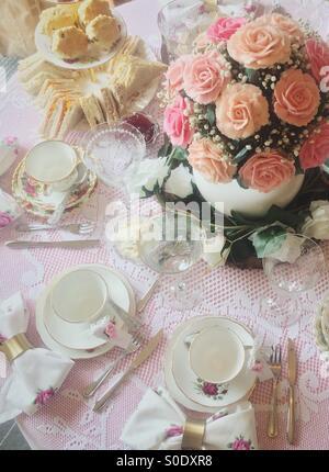 Afternoon tea, cupcake bouquet - Stock Image
