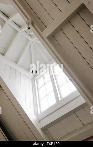 White recessed dormer window - Stock Image