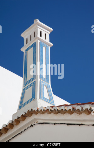 Portugal, Algarve, Carvoeiro, Ornate Chimney - Stock Image