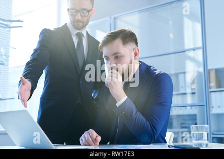 Analyzing online statistics - Stock Image