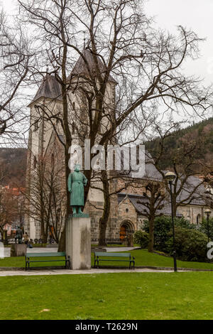 St. Mary's Church in the town of Bergen in Norway - Stock Image