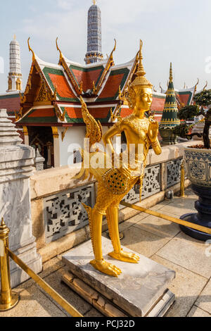 Guardian statue in the Grand Palace, Bangkok, Thailand - Stock Image