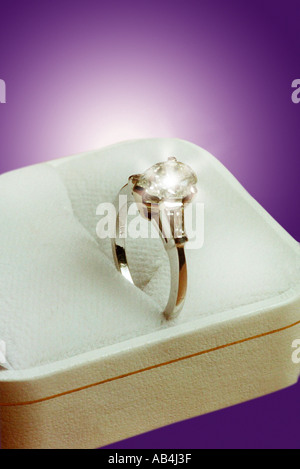 Engagement Ring - Stock Image