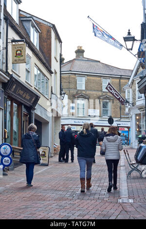 Looking up Shooters Hill, Cowes, Isle of Wight - Stock Image