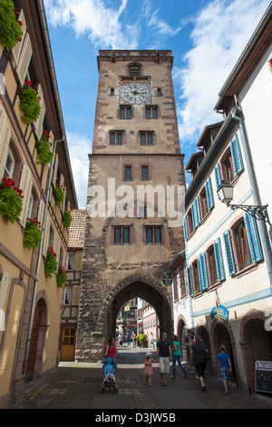 Tower in Ribeauville, Haut Rhin, Alsace, France - Stock Image