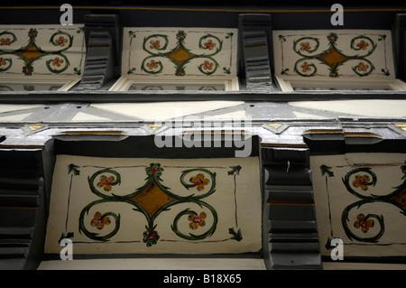 traditional architecture wood detail goslar harz mountians design travel tourism germany deutschland - Stock Image