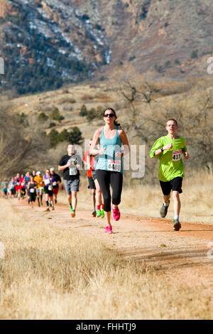 Runners competing in the 2016 PPRR Winter Series - Stock Image