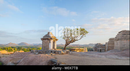 Old ruins in Hampi village in south India - Stock Image
