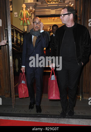 'Fortnum and Mason: Christmas and Other Winter Feasts' book launch in London  Featuring: Stanley Tucci Where: London, United Kingdom When: 17 Oct 2018 Credit: WENN.com - Stock Image