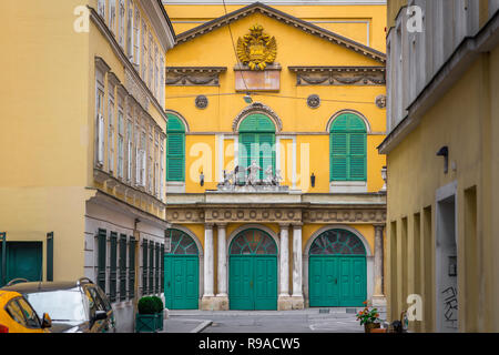 Theater An Der Wien Vienna, view of the the Papageno Gate of the Theater An Der Wien - the original Vienna opera house in the Mariahilf district. - Stock Image