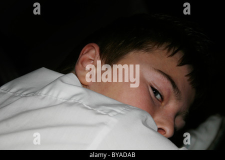 boy laid down - Stock Image