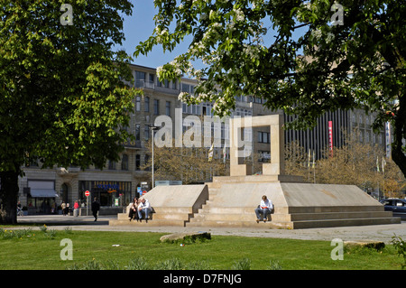 Germany, Lower Saxony, Hannover, opera place, beside opera-house in 1994 established memorial for the Jews murdered - Stock Image