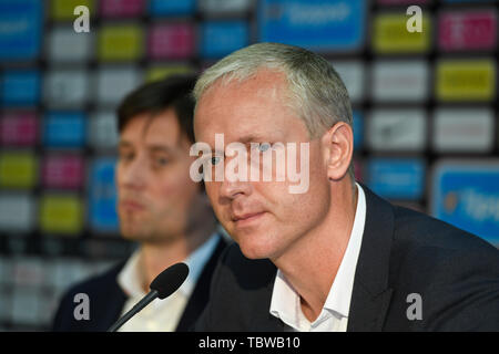 Vaclav Jilek (right) was named the new head coach of AC Sparta Praha. The current Sigma Olomouc coach has signed a three-year contract in Prague, Czec - Stock Image