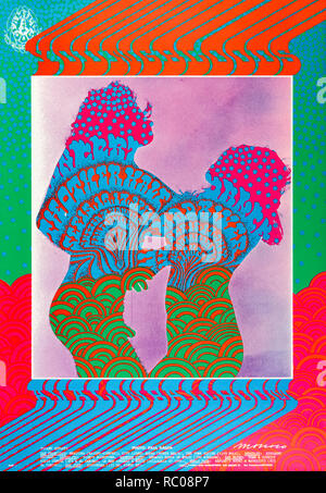 Youngbloods at the Avalon Ballroom concert poster performing with The Other Half  and Mad River 15-17 September 1967 in the Polk Gulch neighborhood of San Francisco, California. See more information below. - Stock Image