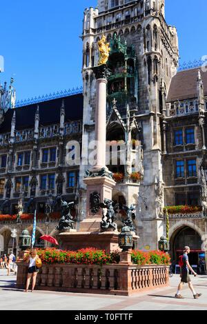 Marienplatz, Munich, Bavaria, Germany - Stock Image