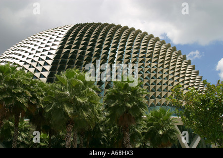 The roof of the new opera house, Singapore - Stock Image