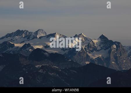Gauli Glacier and high mountains. - Stock Image