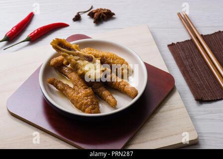 Food Dim Sum Chicken Feet - Stock Image