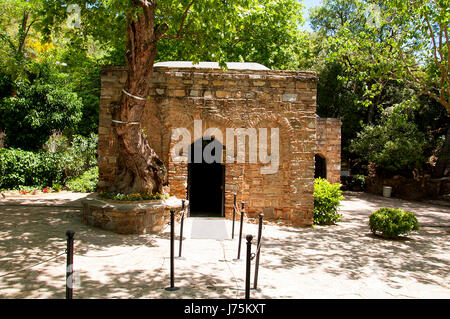 The House of the Virgin Mary (Meryemana), believed to be the last residence of Mary, mother of Jesus. Ephesus, Turkey - Stock Image