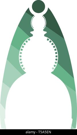 Nutcracker pliers icon. Flat color design. Vector illustration. - Stock Image