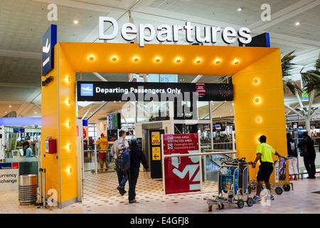 Departure gate Brisbane International Airport Australia - Stock Image