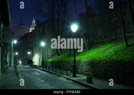 Montmartre at twilight Paris France - Stock Image
