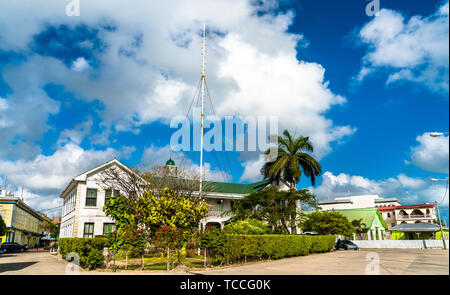 Supreme Court building in Belize City - Stock Image
