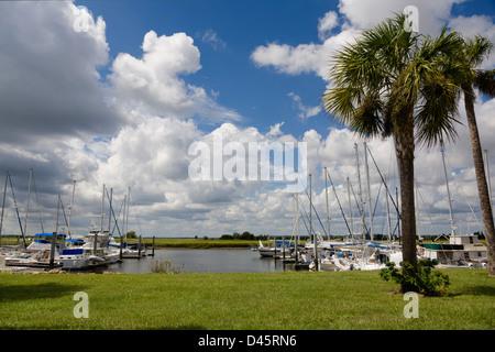 Brunswick Landing Marina, Brunswick, Georgia, USA - Stock Image