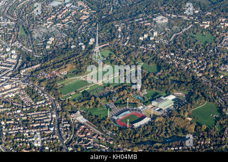 Aerial view of Crystal Palace National Sports Centre - Stock Image