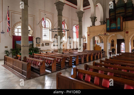 Gibraltar, Cathedral Square, Holy Trinity Cathedral, interior - Stock Image